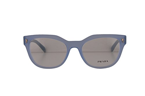 Prada PR21SV Eyeglasses 53-19-140 Opal Azure w/Demo Clear Lens UEX1O1 VPR21S VPR 21S PR - Glasses Rimless Frames Prada