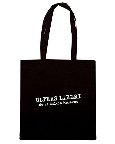 T-Shirtshock - Bolsa para la compra TUM0218 ultras liberi hooligans Negro