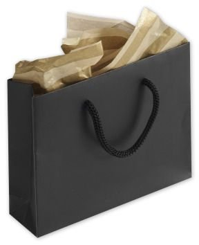 Black Matte Laminated Mini Euro-Totes (200 Bags) - BOWS-244M-050104-12M by Miller Supply Inc