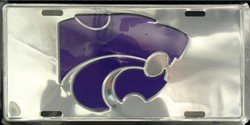 lp - 972 K - State Kansas Chrome License Plate - 50073 -