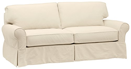 "Stone & Beam Carrigan Modern Slipcover Sofa, 88.5""W, Natural"
