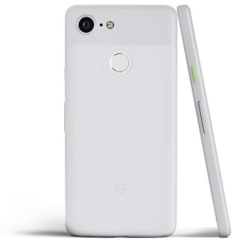 totallee Pixel 3 Case, Thinnest Cover Premium Ultra Thin Light Slim Minimal Anti-Scratch Protective - for Google Pixel 3 (Frosted Clear)