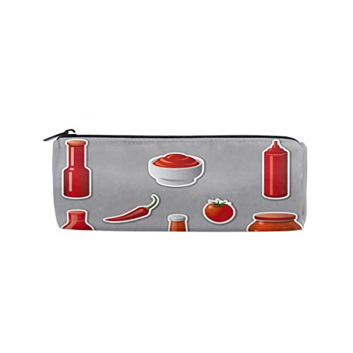 Ketchups And Sauces Stickers Pencil Case Cosmetic Bag Travel Makeup Pouch Bag Toiletry Bags Makeup Organizer With Zipper (Fountain Ketchup)