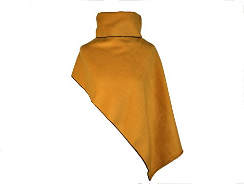 dunkle design Poncho Kurz Curry Fleece