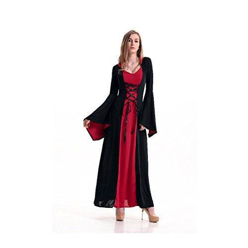 [Koola Women's Vintage Queen Vampire Witch Maxi Costumes Adult Costume Kit] (Adult Vintage Witch Costumes)