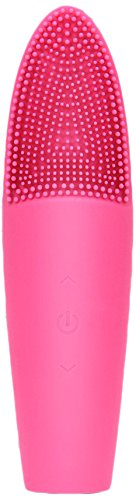 Facial Cleansing Brush - Silicone Sonic Facial Cleanser Exfoliating Electric Facial Massager Facial Scrubber Brush Waterproof 7 Speeds Vibrating Ionic Heating Massager Deep Cleaning