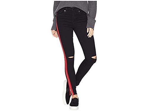 [BLANKNYC] Blank Denim Women's The Reade Skinny Jeans with Zipper, District 9, Black, 25