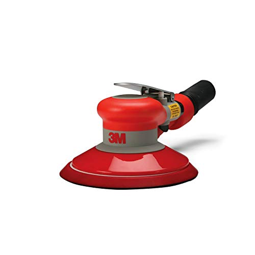 3M Random Orbital Sander - Self Generated Vacuum Sander - 6' x 3/16' Diam. Orbit - Pneumatic Palm Sander - Hook and Loop Pad - For Wood, Composites, Metal - Original Series