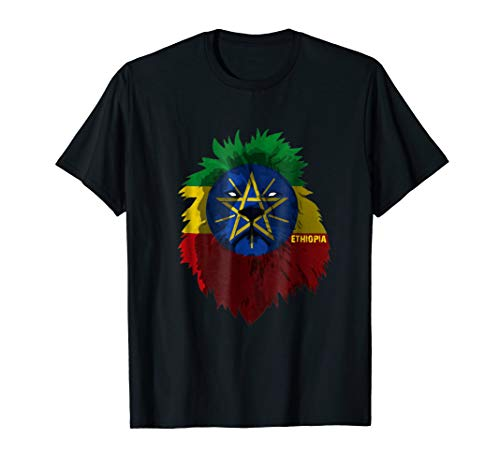 Soccer team Ethiopia national pride Lion Flag T shirt