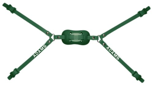 Adams USA PRO-25-4D 4-Point High Football Chin Strap with D-Rings, Dark Green