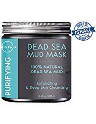 O Naturals Dead Sea Mud Mask - 8.45 oz. 100% Natural, Purifying Facial Mask...