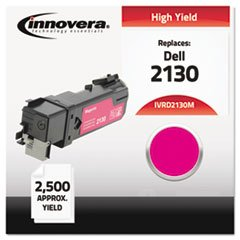 (6 Pack Value Bundle) IVRD2130M D2130M Compatible, Remanufactured, 330-1433 (2130cn) Toner, 2500 Yield, Magenta (2500 Magenta Toner)
