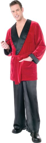 Playboy Smoking Jacket Costume (Playboy Hefs Smoking Jacket Costume - Standard - Chest Size)