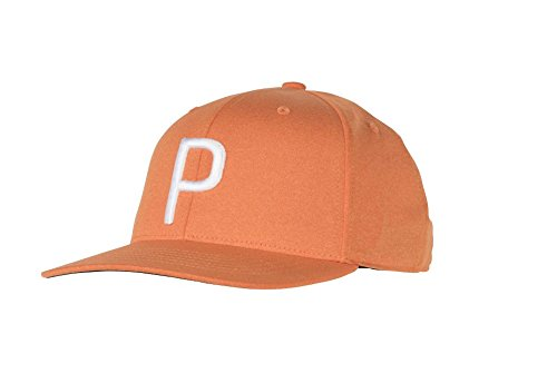 PUMA Golf 2018 Kid's P Snapback Hat (Vibrant Orange Heather, One Size) by PUMA
