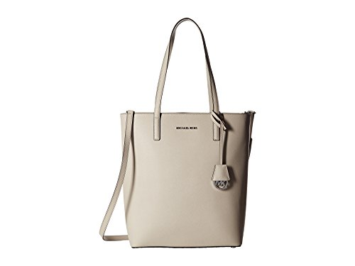 MICHAEL MICHAEL KORS Hayley Large Top-Zip Leather Tote (Cement)