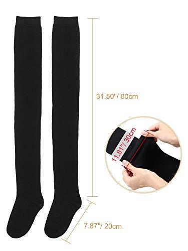 Extra Long Socks Thigh High Cotton Socks Extra Long Boot Stockings for Girls Women