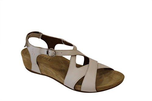 BENVADO VITTORIA sandalo pelle bianca zeppa 3 cm