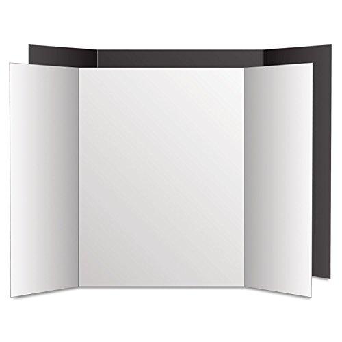 Eco Brites 27135 Too Cool Tri-Fold Poster Board, 36 x 48, Black/White, 6/PK