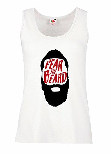 "Camiseta de tirantes mujer ""Fear the Beard"" - Harden 100% algodòn LaMAGLIERIA"