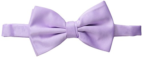 Stacy Adams Men's Satin Solid Bow Tie, Lilac, One Size (Neckwear Mens Solid)