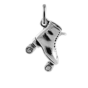 TheCharmWorks Sterling-Silber Rollschuh Charmanhänger | Sterling Silver...
