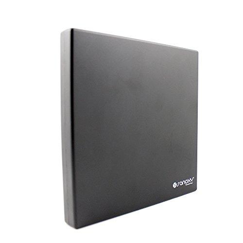 SANOXY_EXT-SLIM-CD_DVD Saxony USB 2.0 External ROM CD-RW Combo Drive Writer, Black by SANOXY (Image #3)