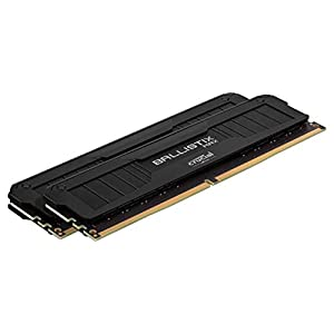 Crucial Ballistix MAX 4000 MHz DDR4 DRAM Desktop Gaming Memory Kit 16GB (8GBx2) CL18 BLM2K8G40C18U4B (BLACK)