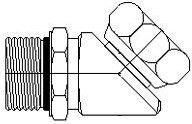 Brennan 6902-08-08-NWO - 45° Elbow - 1/2 in Male O-Ring Boss x 1/2 in Female Pipe Swivel, Steel, Pack of 15