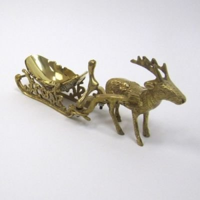 India Overseas Trading Corporation BR3135 - Brass Reindeer With Sleigh by India Overseas Trading Corporation