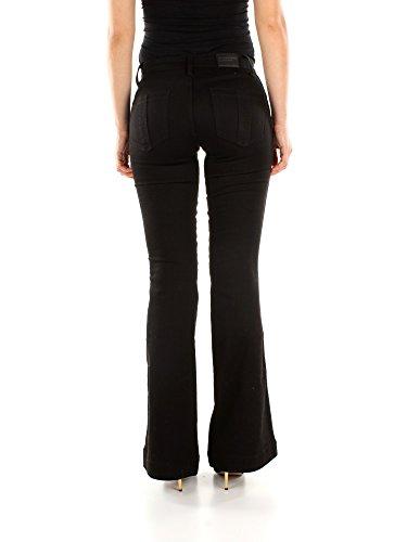 High Donna Burberry Nero 404880 rise Jeans Flare Cotone qfUUFE