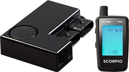 (Scorpio Motorcycle Alarm – SRX-900 – Hands-Free Motorcycle Alarm With 2-Way Alerts)