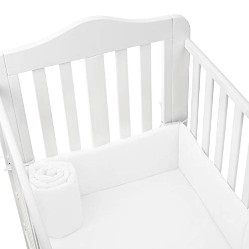Babydoll Tailored Baby Cradle Bumpers, White, 15