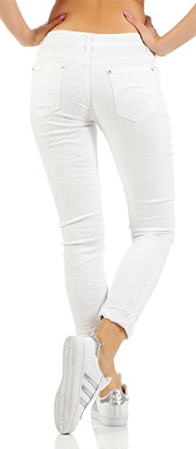Skutari Skutari Boyfriend Boyfriend Bianco Bianco Donna Jeans Jeans Donna 4IqagnR