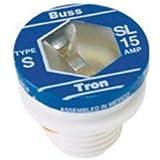 Bussmann SL-15PK4 15 Amp Time Delay Loaded Link Rejection Base Plug Fuse, 125V UL Listed, 4-Pack