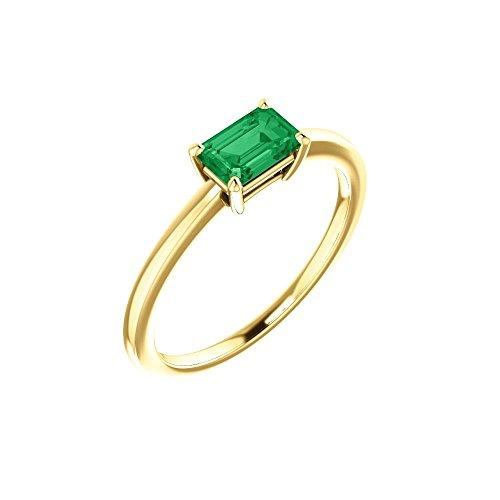 Chatham Created Emerald Ring - 1