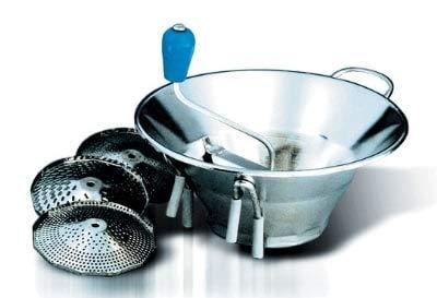 Eurodib S3 Tellier 5-qt Food Mill w/ 3-Grid, Tin Plated ()