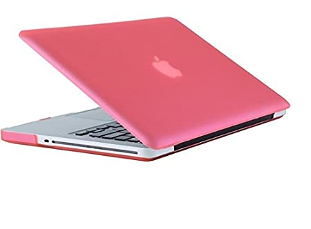 Pashay Logo Cut Crystal finish Hard Shell Case for Apple New Macbook Pro 13 quot; Inch Pink  Laptop Accessories