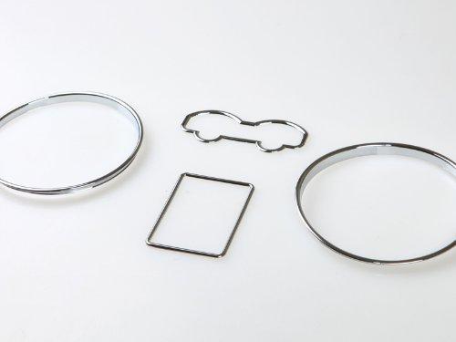 Deltalip DR-00810 Chrome Dashboard Gauge Ring Bezel Set