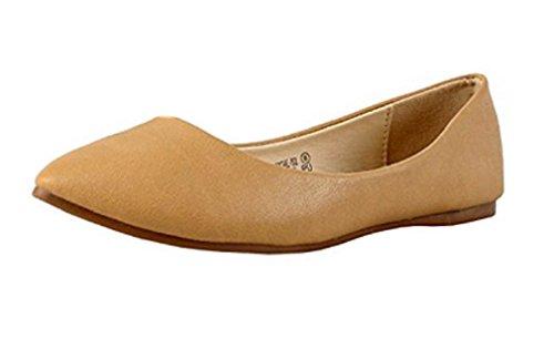 nbsp;Mujer Clásico Marie angie Ballet Bella On Toe Beige Slip ante 53 Pointy de Flats qfIAft