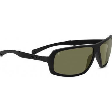 Serengeti 8099 Alassio Sunglass, Satin Black Frame, Polarized 555nm Lens by Serengeti