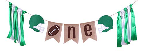 Silk Nfl Football - Football First Birthday Party Supplies- Handmade One Burlap Banner Party Photo Prop Bunting Backdrop Cake Smash Sports Fall Team