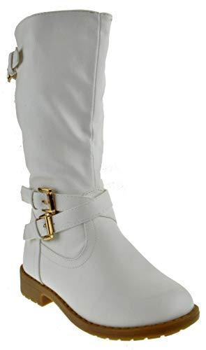 Lucky Top Vanida 1k Little Girls Riding Zip Up Boots White 10 ()