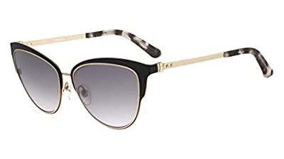Calvin Klein Collection - CK8007S, Cat Eye, metal, women, BLACK/GREY SHADED(001 A ), 57/16/135