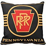 Pennsylvania Railroad Logo, Black & Gold Throw pillow cover