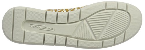 camel active Damen Cloud 73 Sneaker Gelb (cord/white 03)