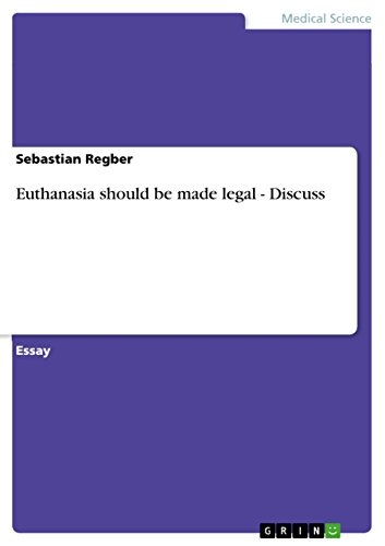 reasons why euthanasia should be legal
