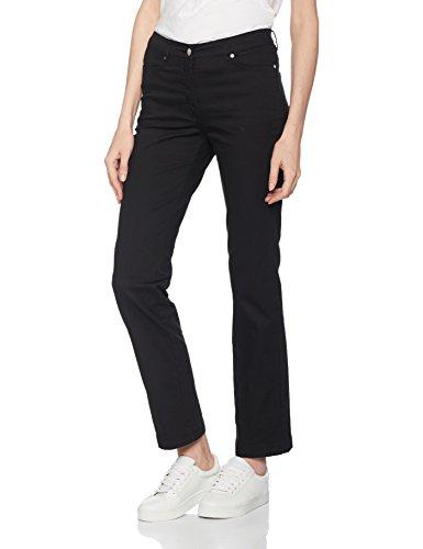 Damart Perfect Fit Coupe Droite, Pantalón Vaquero Recto para Mujer Noir (Noir)