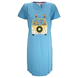 Forever Dreaming Ladies Cotton Jersey Nightshirt with Motif