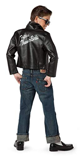 Charades Fifties Thunderbirds Leather Children's Costume Jacket, Large -