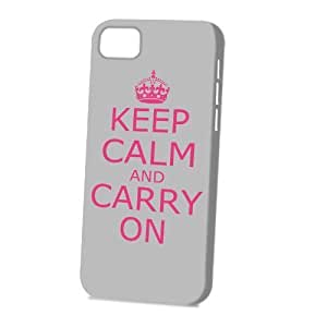 Case Fun For SamSung Galaxy S4 Case CoverVogue Version - 3D Full Wrap - Grey Keep Calm and Carry On